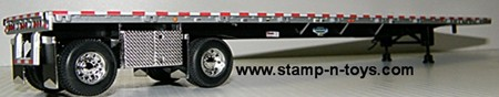 Wilson 53' spread axle Flatbed - Black Frame