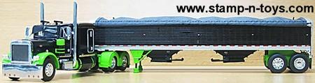 Owner Operator Peterbilt 379 Tractor with Wilson Grain Trailer
