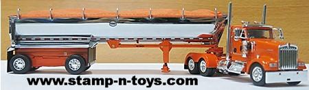Owner Operator Kenworth W900 Daycab w/matching chrome MAC Spread-Axle End Dump