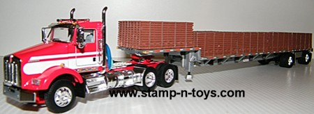 KW T-800 D/C with Stepdeck & Load