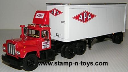 APA Transport Mack R Model w/28&#039 Van