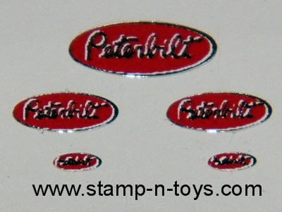 Peterbilt Red Oval Decals