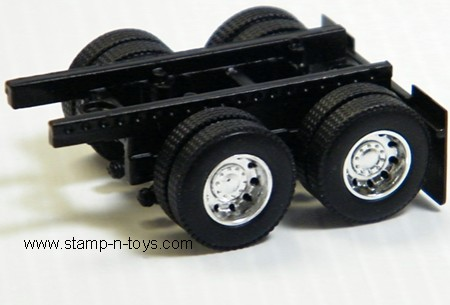 Diecast Rear Tandem Axle Trailer Assembly with DCP Wheels & Tires