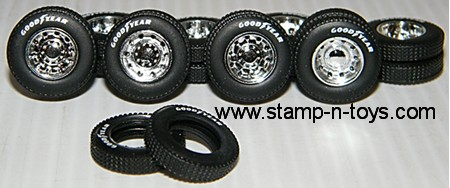 DCP Goodyear White Letter Tire Set