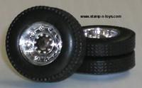 DCP 10 Hole ChromeDual Wheels w/Tires & Axle
