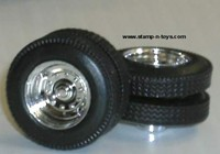 DCP 2 Hole Chrome Dual Wheels w/Tires & Axle