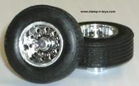 DCP Super Single Chrome Wheels w/Tires & Axle