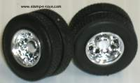 Spec Cast New Style Chrome Dual Wheels w/Tires & Axle