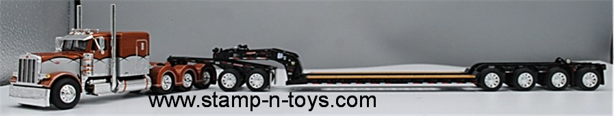 DCP FONTAINE RENEGADE LOWBOY FLIP AXLE TRAILER WITH KOMATSU DOZER 1//64 60-0693 D